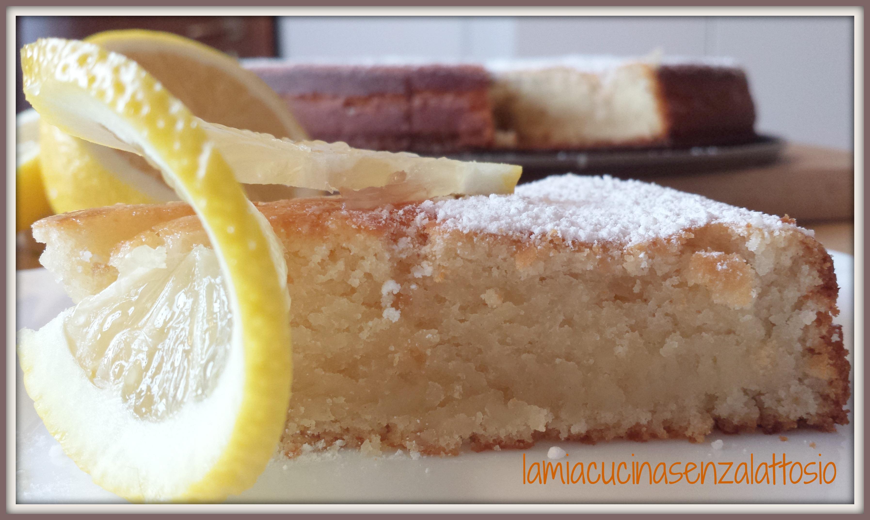 Torta Soffice Al Limone Senza Uova E Senza Lattosio La Mia Cucina