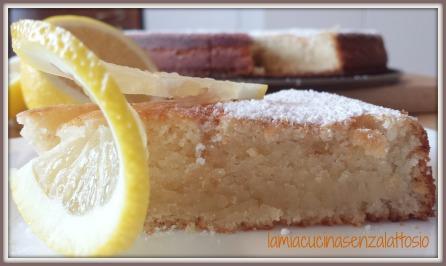 torta limone senza uova senza lattosio