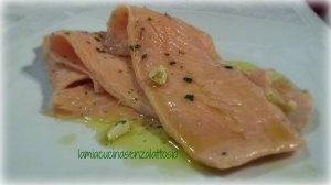 salmone marinato senza lattosio