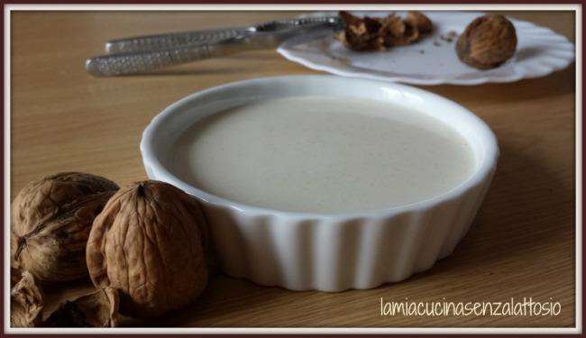 salsa noci senza lattosio