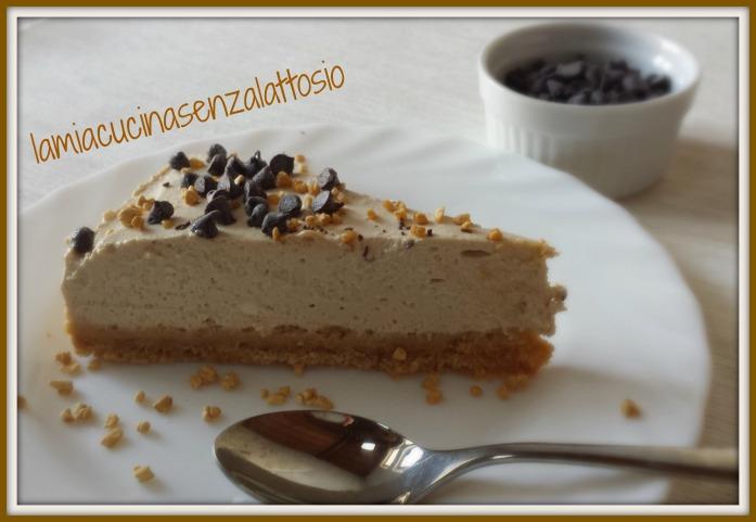 torta fredda al caffè senza lattosio