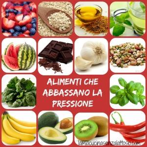 alimenti che abbassano la pressione