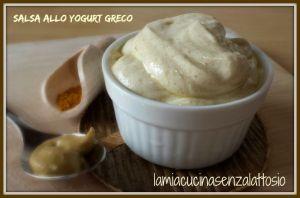 salsa yogurt greco senza lattosio