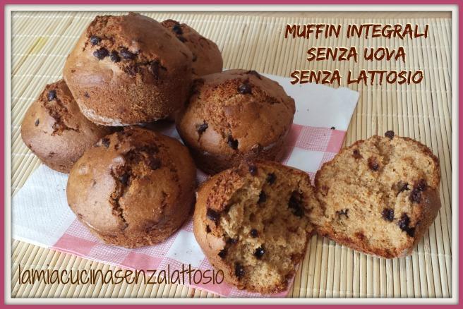 muffin integrali gocce cioccolato senza uova