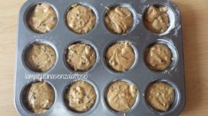 muffin gocce cioccolato senza lattosio