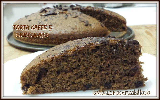 torta caffè e cioccolato senza uova senza lattosio