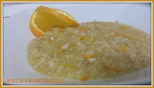 risotto arancia e mandorle