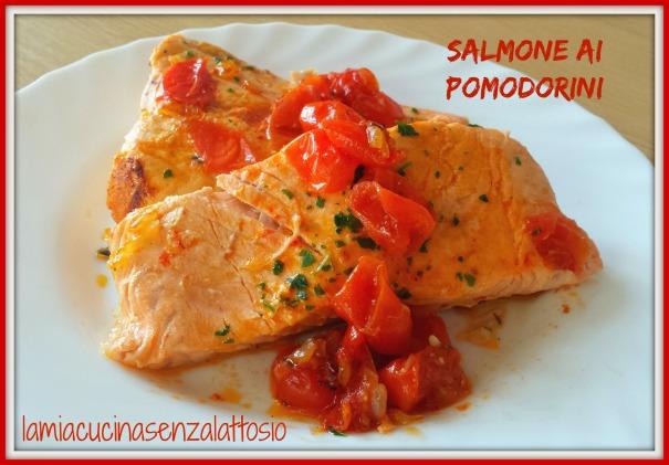 salmone ai pomodorini