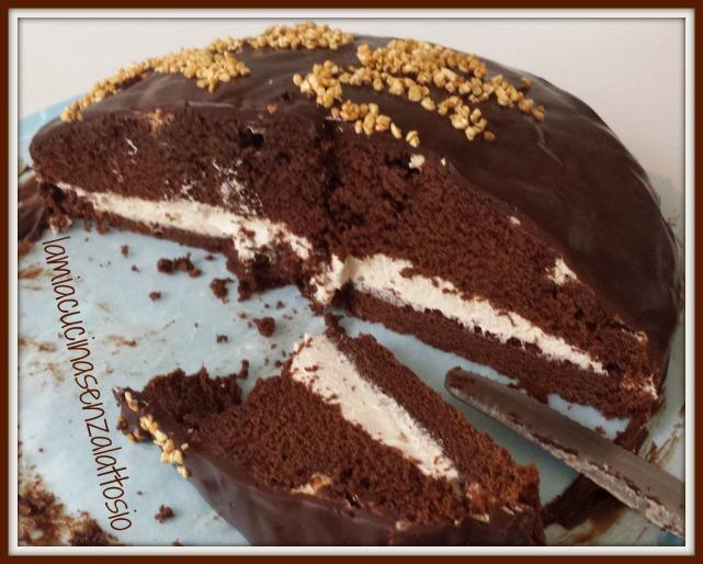 Favoloso Torta cioccolato ripiena di crema caffè senza uova senza lattosio  AC98