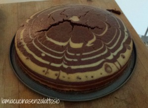 torta sebrata senza lattosio