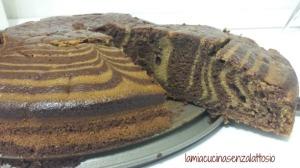 torta zebrata senza uova senza lattosio