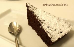 torta cacao e mandorle senza lattosio