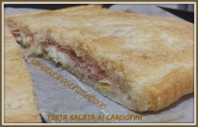 torta salata carciofini senza lattosio