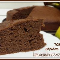 Torta banane e cioccolato senza uova senza lattosio