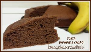 torta banane e cacao senza uova senza lattosio