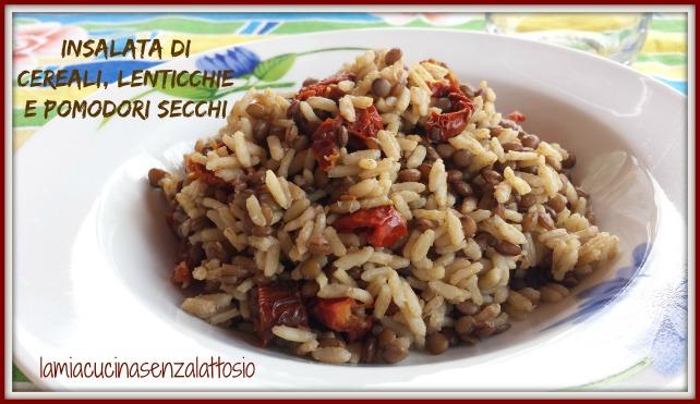 insalata cereali lenticchie pomodori secchi