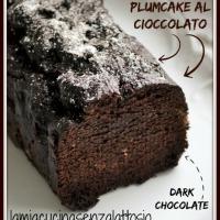 Plumcake al cioccolato fondente senza lattosio senza uova