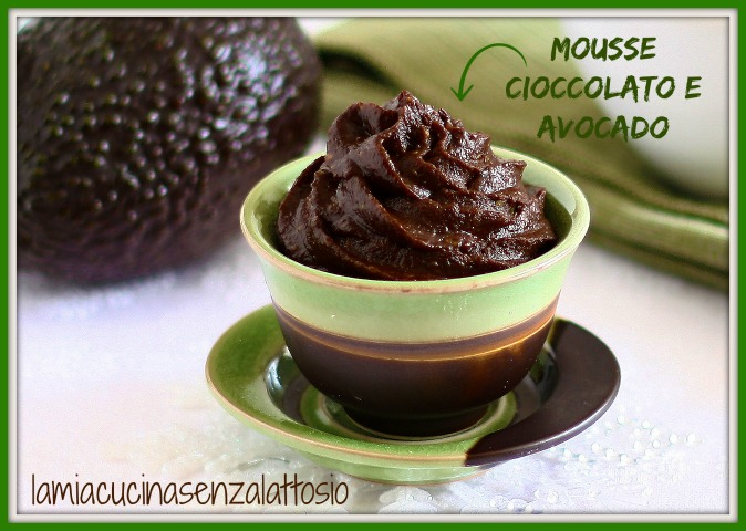 mousse avocado cioccolato