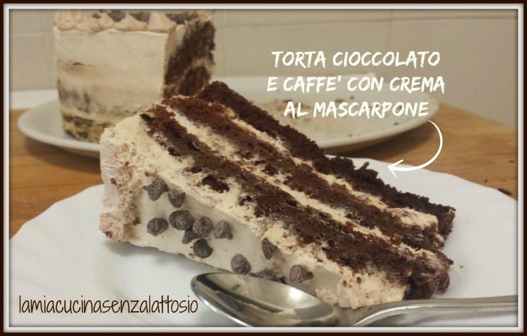 Conosciuto Torta cioccolato e caffè con crema al mascarpone senza uova e  KK53