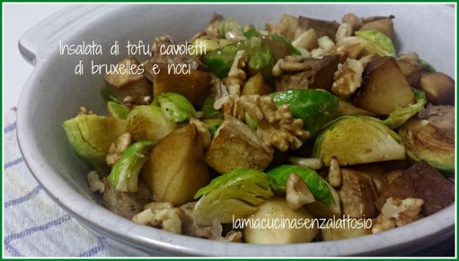 tofu cavoletti bruxelles noci mele
