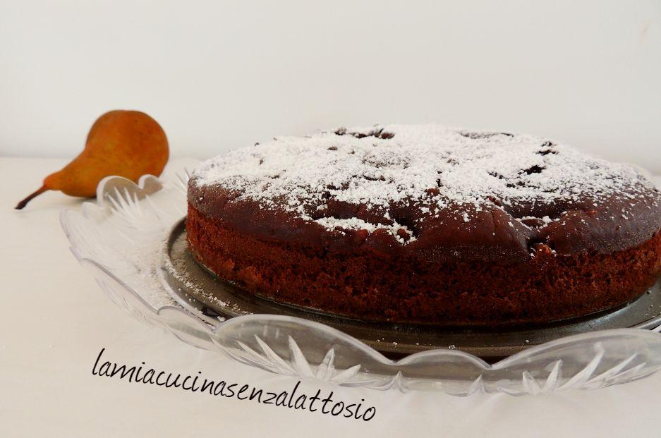 torta pere e cioccolato vegana