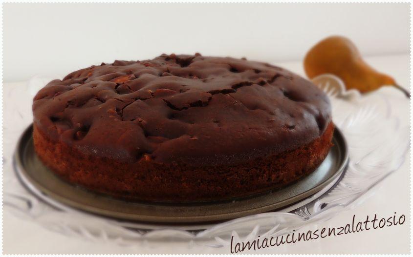 torta pere e cioccolato senza lattosio senza uova