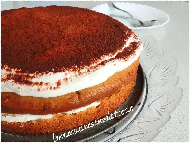 torta tiramisù senza uova senza lattosio