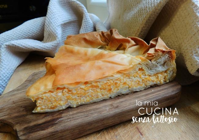 torta di pasta fillo alla zucca
