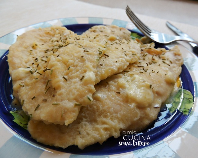 scaloppine lactose free