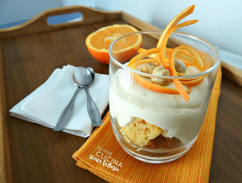 coppette mascarpone, pandoro e arancia