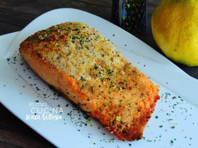 salmone panato al forno