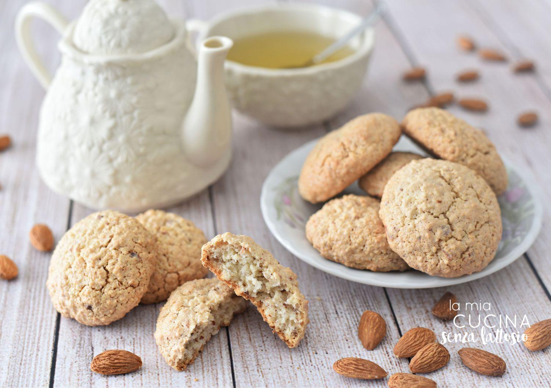 biscotti mandorle senza lattosio